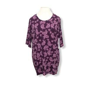 LuLaRoe Irma Blouse Tunic Top Floral Print M